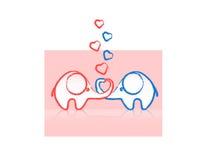 słonia kochanków dwa wektor ilustracji