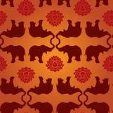 słonia lotosu wzór Obraz Royalty Free
