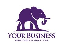 Słonia symbol Wektorowa ilustracja, Obrazy Royalty Free