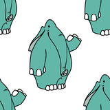 Słonia wzór royalty ilustracja