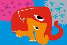 Słonie chodzi w lesie Fotografia Royalty Free