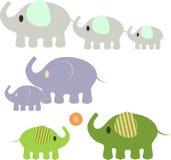 Słonie Illustaions Obrazy Stock