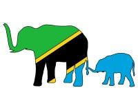 słonie Tanzania Fotografia Stock