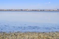 Słony jezioro krajobraz Zdjęcia Stock