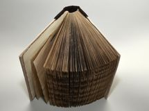 Opened old-looking handmade book, top view. It`s an opened old-looking handmade book made by myself, top view Royalty Free Stock Photography