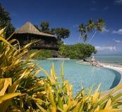 södra lyxig Stillahavs- semesterort för kocköar Royaltyfria Foton