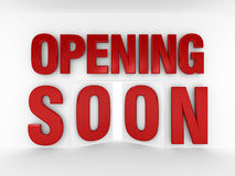 S'ouvrir bientôt | Style de porte Images stock
