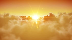 S'ouvrir de portes de ciel Beau Sun et nuages sont loopable HD 1080 banque de vidéos