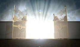 S'ouvrir de portes de cieux Photographie stock