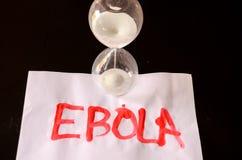 Słowa Ebola tekst Zdjęcia Stock
