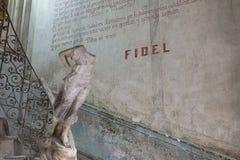 Słowa Fidel Castro Fotografia Royalty Free