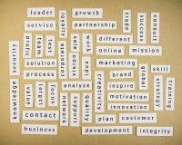 Słowa kluczowe na papierze Obrazy Stock