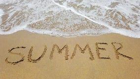 S?owa lato na piasku i morze machamy zdjęcie wideo