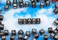 Słowa serce Obrazy Stock