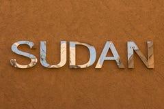 Słowa Sudan tekst przy expo Milano 2015 Zdjęcia Royalty Free