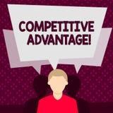 S?owa writing teksta przewaga konkurencyjna Biznesowy poj?cie dla warunku kt?ry stawia firmy w korzystnie pozycji ilustracji