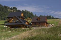 Słowaccy drewniani domy Obrazy Royalty Free