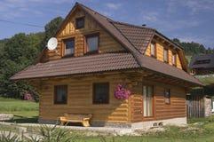 Słowacki drewniany dom Obrazy Royalty Free