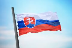 Słowak flaga Zdjęcie Royalty Free