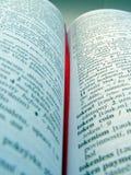 słownik otwarty Zdjęcie Royalty Free