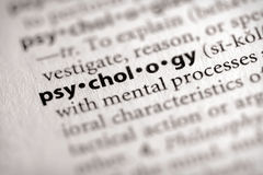 słownik psychologii serii Zdjęcia Stock