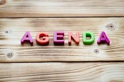 Słowo agenda Zdjęcia Royalty Free