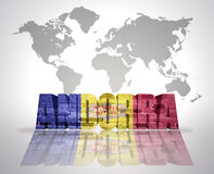 Słowo Andorra Obraz Stock