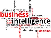 Słowo chmura - Business intelligence royalty ilustracja