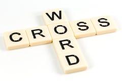 Słowo CROSSWORD na plastikowych deskach obraz royalty free