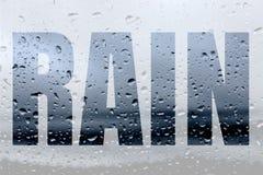 Słowo deszcz Zdjęcia Royalty Free
