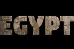 Słowo EGIPT nad symbolicznymi miejscami Zdjęcia Royalty Free