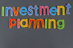 Słowo Inwestorski planowanie Obraz Royalty Free