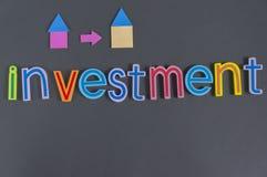 Słowo inwestycja Obraz Royalty Free
