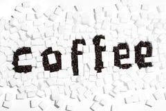 Słowo kawa Obraz Royalty Free