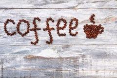 Słowo kawa od kawy adry Zdjęcie Stock