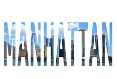Słowo Manhattan Obraz Royalty Free