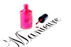 Słowo Manicure Zdjęcie Stock