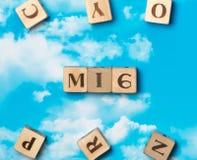 Słowo MI6 Fotografia Stock