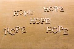 Słowo nadzieja na naturalnym tle Fotografia Stock
