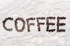 Słowo od fasoli kawowych Obraz Stock