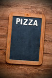 Słowo pizza Zdjęcia Royalty Free