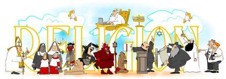 Słowo religia Obrazy Royalty Free