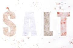 Słowo sól Obrazy Stock