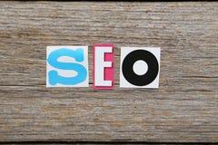 Słowo wyszukiwarki optymalizacja Fotografia Stock