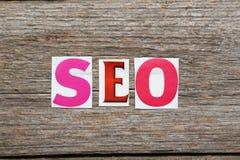 Słowo wyszukiwarki optymalizacja Obraz Stock
