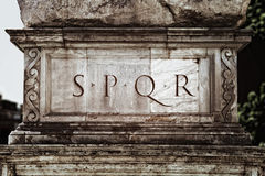S.P.Q.R. Royalty Free Stock Images