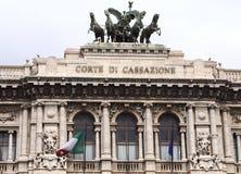 S P Q R-Corte Di Cassazione-I-Rome Royalty-vrije Stock Foto