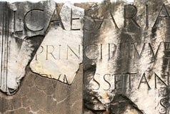 S P Q R-forum romanum-I-Rome Royalty-vrije Stock Afbeelding