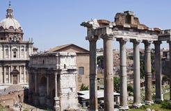 S P Q R-forum romanum-ii-Italië Stock Afbeeldingen
