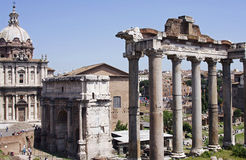 S.P.Q.R-Forum Romanum-II-Italy. This photo is a product of my Rome tour Stock Images